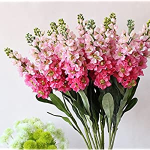 "Skyseen 6PCS Stems 32"" Artificial Antirrhinum Snapdragon Silk Hyacinth Flowers 5"