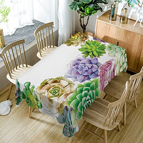 - Cactus Tablecloth Modern Decor Succulent Flowers Cactus Watercolor Polyester Fabric Table Cloths Dining Room Kitchen Rectangular Table Cover 52W X 70L Inches Watercolor