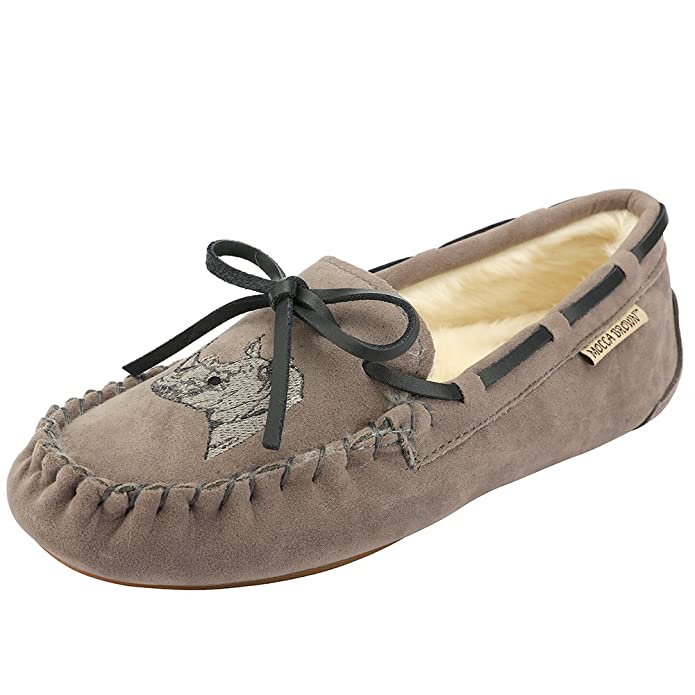 Amazon.com | Womens Moccasin Slippers Flat Loafer Driving Shoes/Memory Foam/Animal Embroidery | Slippers