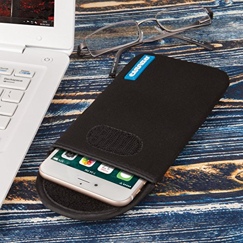 Caseflex iPhone 7 Plus Hülle, iPhone 8 Plus Hülle,Neopren Hülle / iPhone 7 Plus / 8 Beutel / Skin / Tasche|Passgenau für das iPhone 7 Plus (2016) &iPhone 8 Plus(2017)- Schwarz