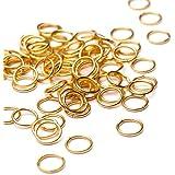 Beads Unlimited Lot de 500anneaux de jonction en métal doré 8mm
