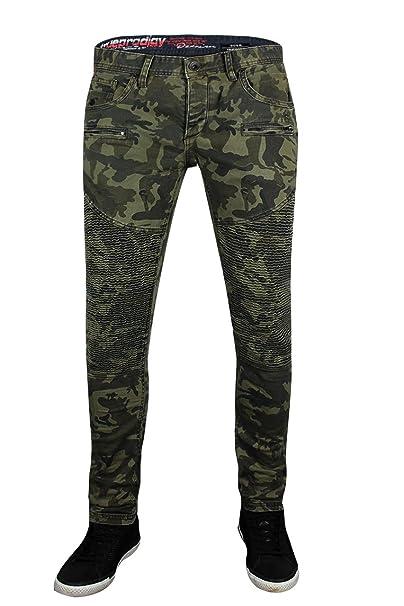 trueprodigy Casual Hombre Marca Jeans Pantalon Elastica Ropa ...