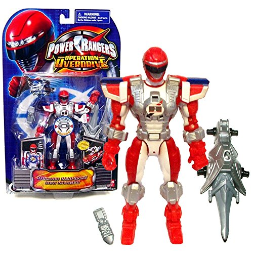 Bandai Year 2007 Power Rangers Operation Overdrive Series 6 Inch Tall Action Figure - MISSION RESPONSE RED RANGER with I.D. Tech Chip Inside Plus Cell Phones and Sword Red Power Ranger Operation Overdrive