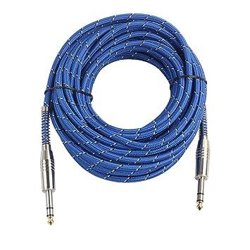 SM SunniMix 6.35 Mm 1/4 Pulgada TRS Cable Balanceado M A M Cable De Audio Estéreo Para Micrófono, Mezclador - 10m: Amazon.es: Bricolaje y herramientas