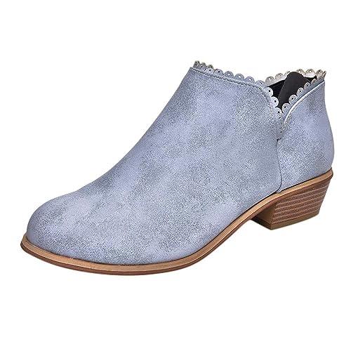 Zapatos Redondas Para Del Dedo beikoard Moda Mujer Mujer Pie Botas BxBqw1rC