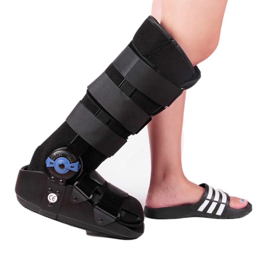 Pneumatic ROM Walker Fracture Walker Boot Medical Walking Boots Achilles Tendon Surgery Acute Ankle Injuries Sprains Inflatable Supports (Small)