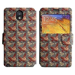 LEOCASE Pájaros Y Flores Funda Carcasa Cuero Tapa Case Para Samsung Galaxy Note 3 N9000 No.1000631