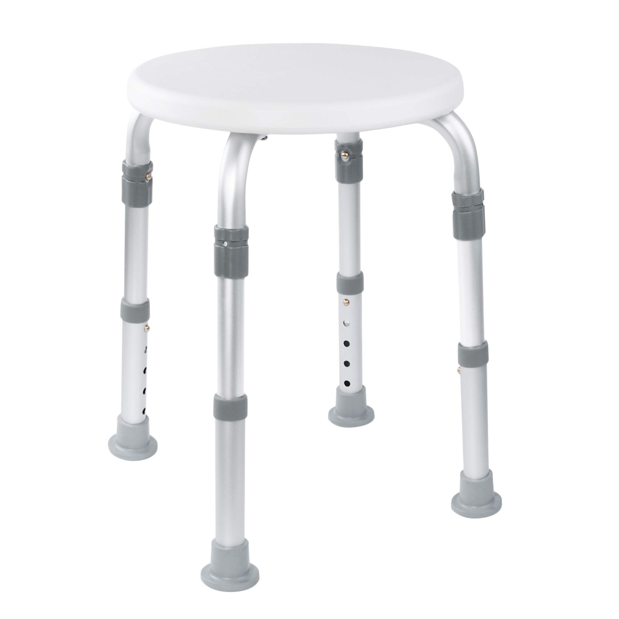Medical Tool-Free Assembly Adjustable Shower Stool Tub Chair and Bathtub Seat Bench with Anti-Slip Rubber Tips for Safety and Stability