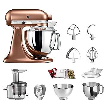 KitchenAid Robot de cocina fop Conjunto   Artisan 5 ksm175ps Licuadora del paquete  , incluye Licuadora vorsatz, Exprimidor y accesorios estándar cobre: ...