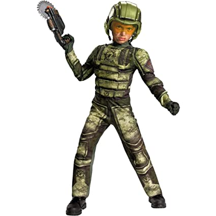 Disguise Operation Rapid Strike Red Sector Foot Soldier Classic Muscle Boys Costume, 7-8