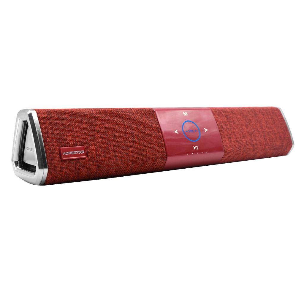IPOTCH Altavoz sin Cables Bluetooth Super Bajo para Tableta Teléfono Móvil Inteligente Universal - Rojo