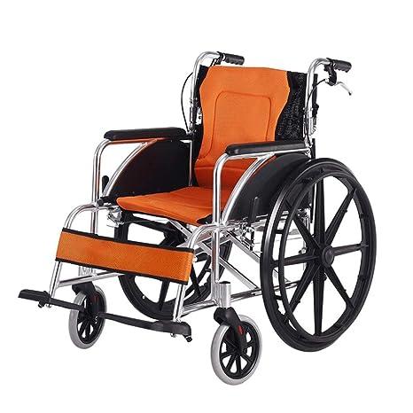 Amazon.com: LUNYI Silla de ruedas, plegable, portátil, con ...