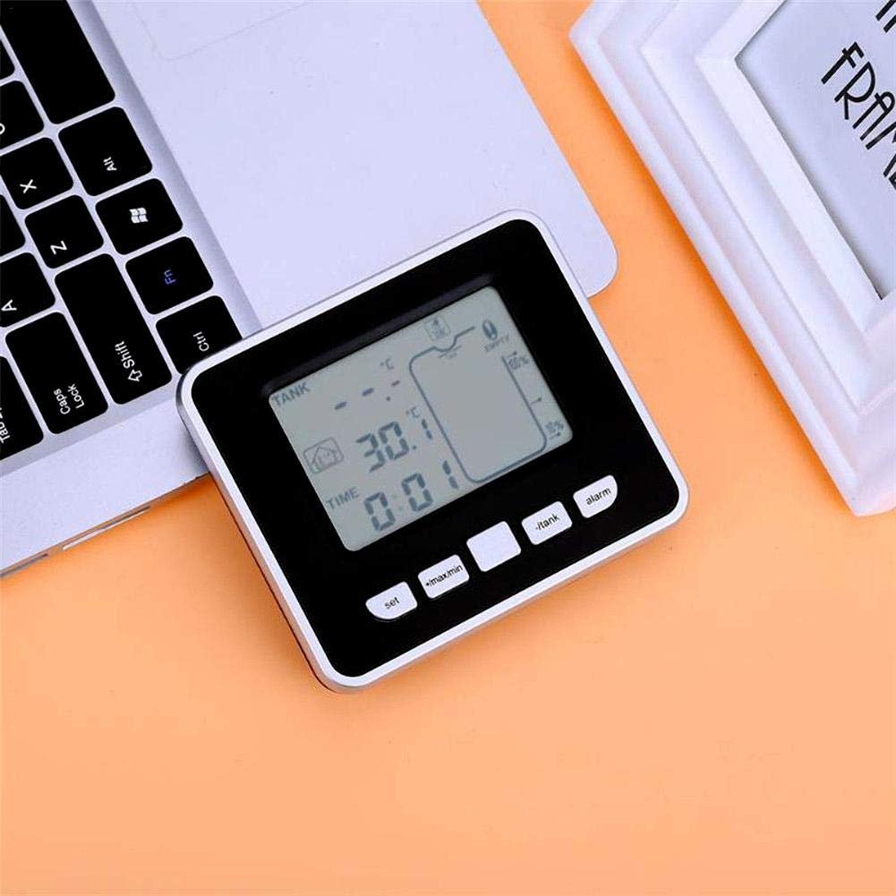 Lifesongs - Medidor de Nivel de Tanque ultrasónico (indicador de Temperatura de Interiores, indicador de Nivel de Agua, indicador de Temperatura líquida): ...