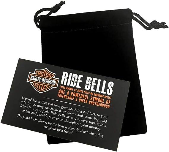 Genuine Harley Davidson White Crystal Willie G Skull Ride Bell