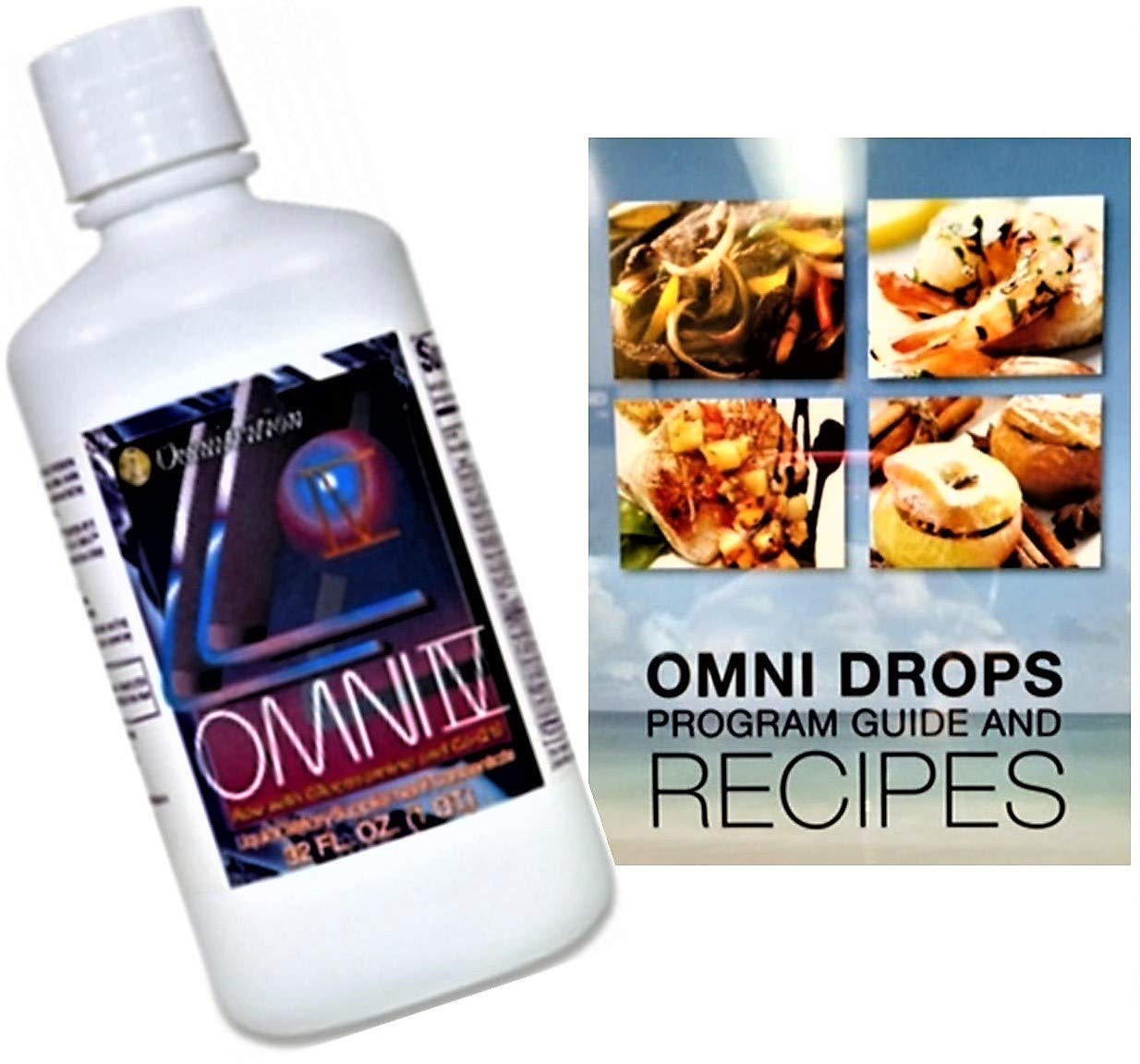 Omni Drops Diet Drops with Vitamin B12-4 oz with Program Guide and Omni IV (Omni 4) Liquid Vitamins and Minerals with Glucosamine and Co-Q10 by Omnitrition Bundle by Omnitrition