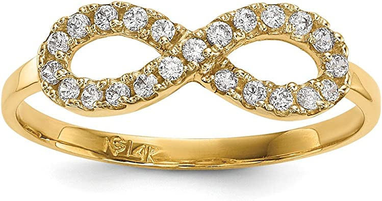 Jewels By Lux 14K Yellow Gold Wedding Ring Band for 5.8mm Engagement Ring