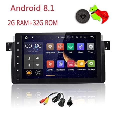 MCWAUTO Compatible BMW E46 3er 318 320 325 M3 Rover75 MG ZT Android 8 1  Quad Core 9 Inch HD Digital Multi Touch Screen Car Stereo Radio Player GPS