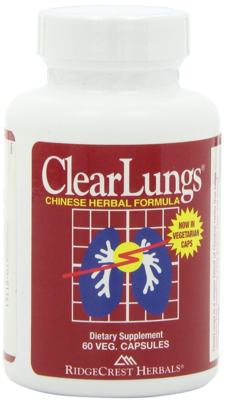 Ridgecrest Clearlungs Red Herbal Formula - 60 Capsules, 6 Pack
