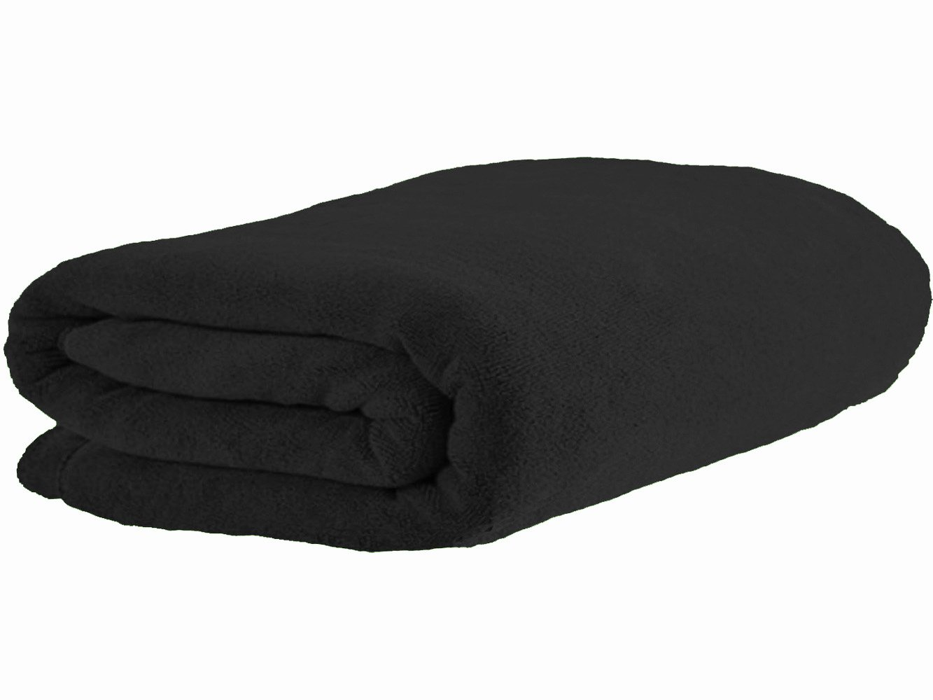 Simplife Luxury Microfiber Extra Large Bath Towel Beach Bath Sheet Fast Drying Towel Soft Absorbent Towel(36 Inch X 72 Inch, Black)