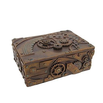 amazon com 5 inch steampunk mechanical inspired jewelry trinket box