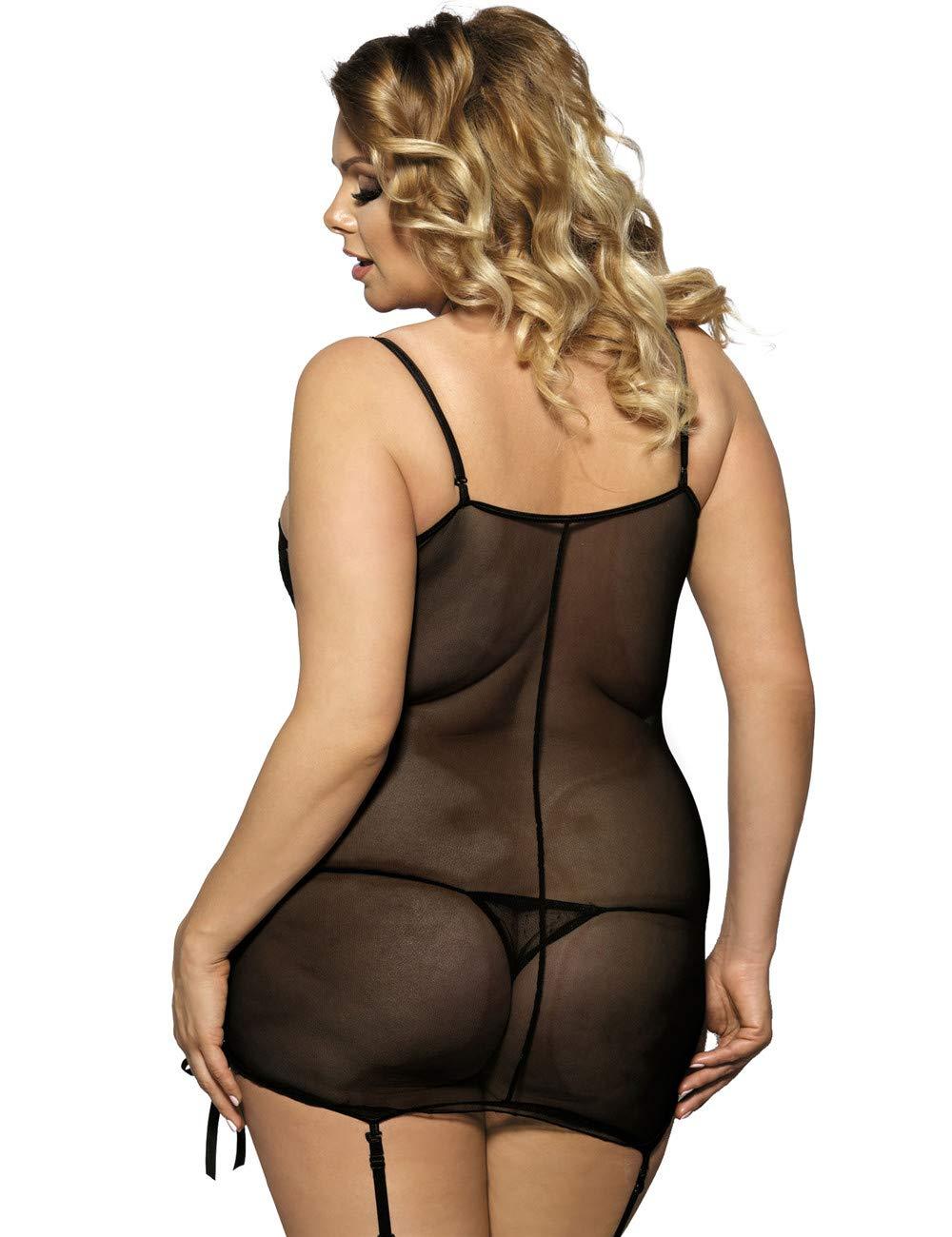 Ropa erótica FMY Lencería erótica Sexy Sling Sling Sling Pijamas Encaje Mujeres Transparentes Seductor Liguero Conjunto de Tanga - Múltiples Opciones de tamaño (Tamaño : 2XL) 620b52