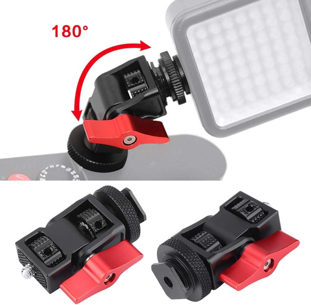Yctze Ballhead Rojo aleaci/ón de aluminio Ballhead Hot Shoe Monitor Estabilizador Soporte Soporte Videoc/ámara Accesorios para c/ámaras DSLR
