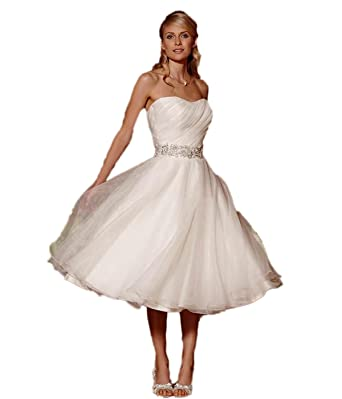 048e3d7d261 Kleidung   Accessoires Neu Kurz Organze Hochzeitskleid Ballkleid  Brautkleider Abendkleid Gr 32-44 Brautkleider