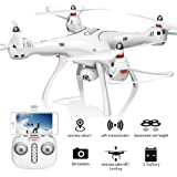 XFUNY Syma X8Pro FPV RC Quadcopter with 720P Camera Live Video 2.4GHz 6-Axis Gyro Drone with WiFi HD Camera, GPS Return Home, Altitude Hold, Headless Mode, 2 Battery (White)