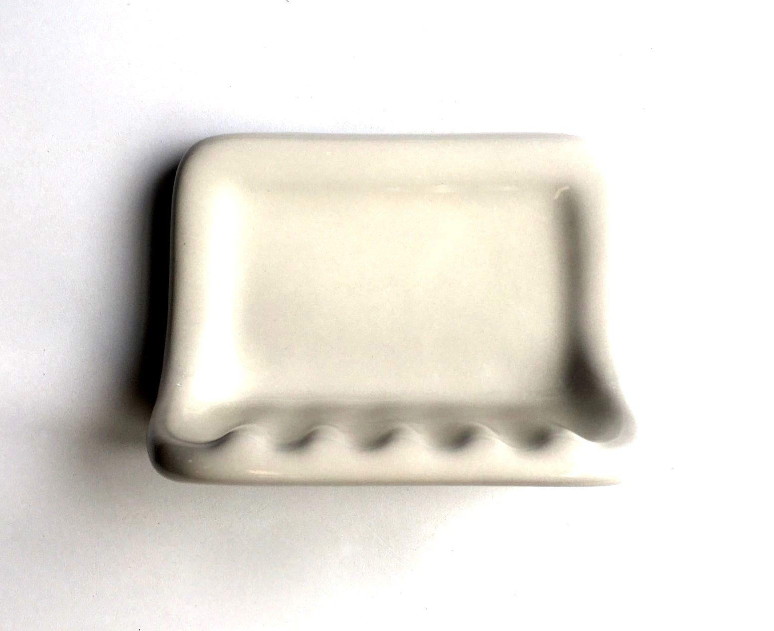 Squarefeet Depot Bath Accessory Shower Soap Dish Almond Ceramic Thinset Mount 6-1/2'' x 4-7/8''