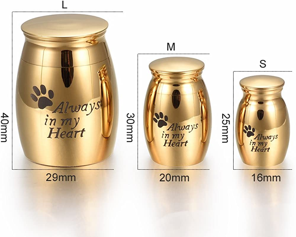 memorial jewelry Foreverlove Always in My Heart Mini Size Stainless Steel Waterproof Funeral Keepsake Urn Seagull Cremation Urn for Human Ashes or Pet