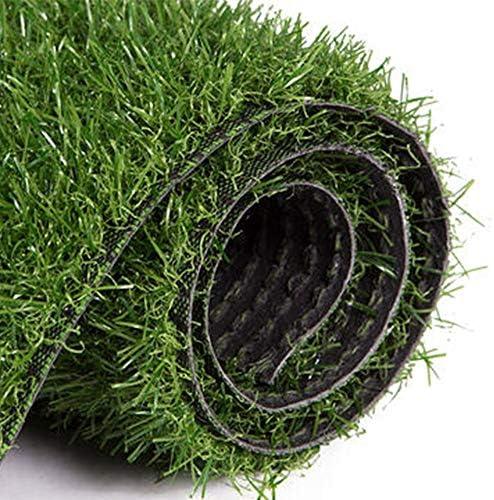 GAPING 人工的な草の排水穴のゴム製裏付けの総合的で厚い芝生の芝生のカーペットは屋内、屋外の景色の高さ30mm、3色のために完成します (Color : Dark green, Size : 2x1m)
