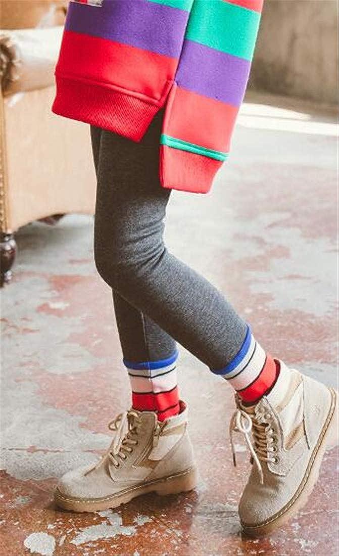 Cromoncent Girls Winter Jogging Warm Cute Slim Trousers Legging