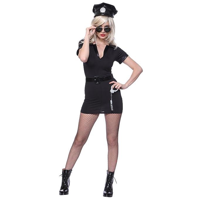 Amazon.com  Women s Dirty Cop Officer Fancy Dress Costume XL us 14 ... ffe6c85e4