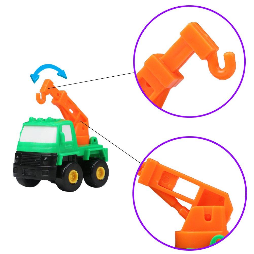 Camion Giocattolo Macchine Bambini Giochi del Veicoli Auto per Bambini 3 Anni 6 Pezzi