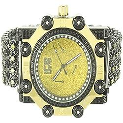 Golden Black Ice Crush Men Designer Techno Ice Master King Fashion Watch