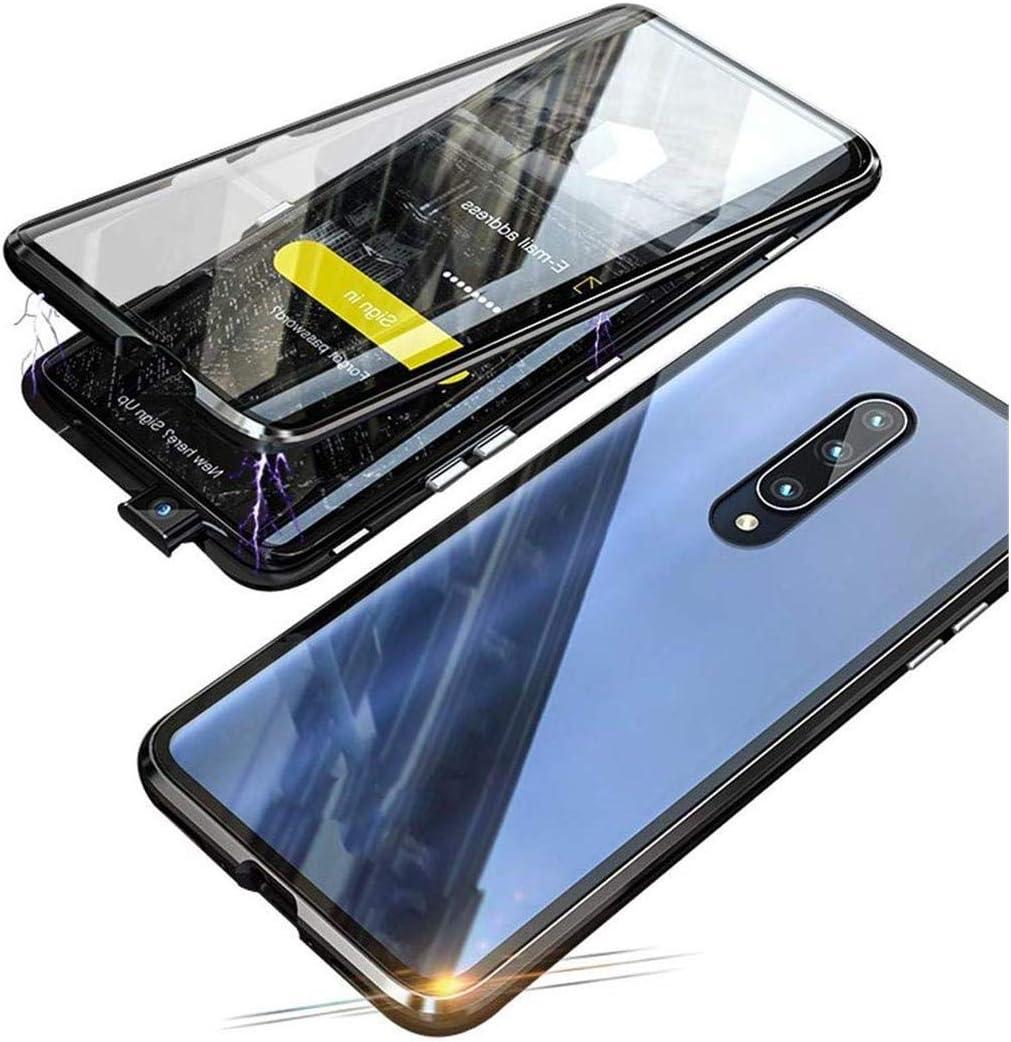 Onlycase Funda para Xiaomi Mi 9T Carcasa Adsorcion Magnetica Cover 360 Grados Proteccion Doble Háptico Vidrio Templado Transparente Imanes Potentes Marco Aluminio Anti Choque Metal Bumper Cubierta