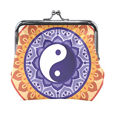 Amazon.com: Dragon Sword Lotus Yin Yang diseño monedero ...