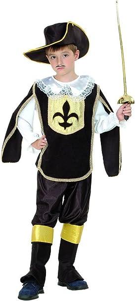 Disfraz mosquetero negro y oro niño - 4 - 6 años: Amazon.es ...