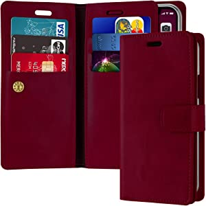 Goospery Mansoor Wallet for Apple iPhone 11 Pro Case (5.8 inches) Double Sided Card Holder Flip Cover (Wine) IP11P-MAN-WNE
