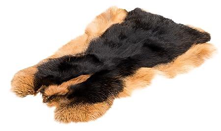 NaDeco Hasenfell schwarz LOH | Kaninchenfell | Dekofell | Tierfell