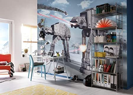 Komar Mural con empapelado AT-AT Walker Batalla de Hoth Star Wars ...
