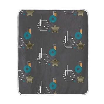Amazon.com: Geometric Bauhaus Pattern Throw Blanket for Bed ...