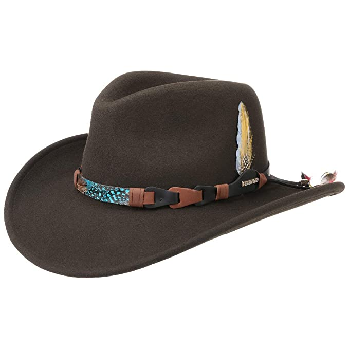 Stetson Sombrero Chasney Western VitaFelt Hombre Made in USA Outdoor de Fieltro Rodeo con Banda Piel Verano//Invierno