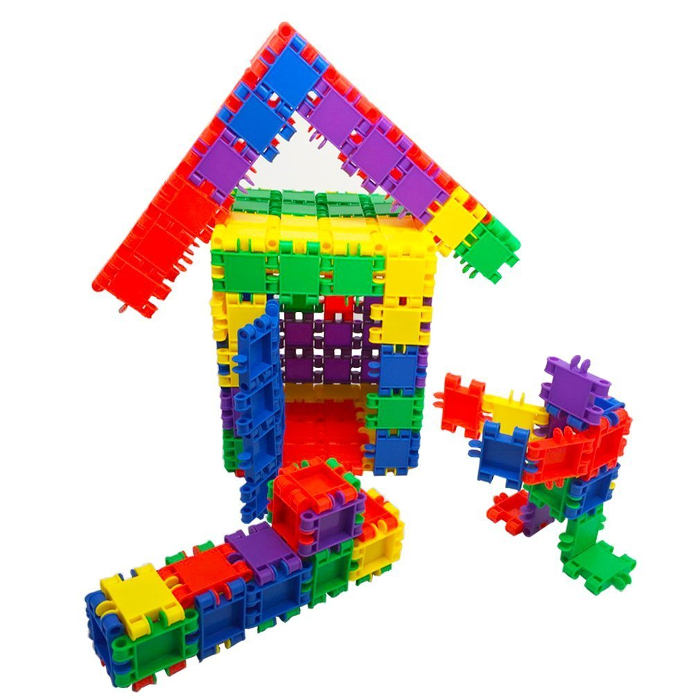 MICHLEY 100 Pcs Building Blocks Interlocking Blocks for Toddlers Review