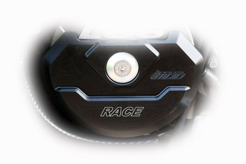 GSG Mototechnik KTM 990 Super Duke / 990 Super Duke R 2005y'以降 / 950 , 990 Super Moto 2006y'以降 / 950 , 990 super Moto R 2007y'以降 / 950 , 990 Adventure 2003y'以降 / 990 SMT 2009y'以降 用 フレーム スライダー 左側エンジンカバー (ジェネレーターカバー) プロテクター   B00A73E6OG