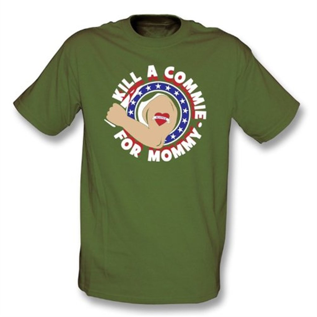 T-Shirt As Worn by Johnny Ramone of The Ramones Kill A Commie for Mommy
