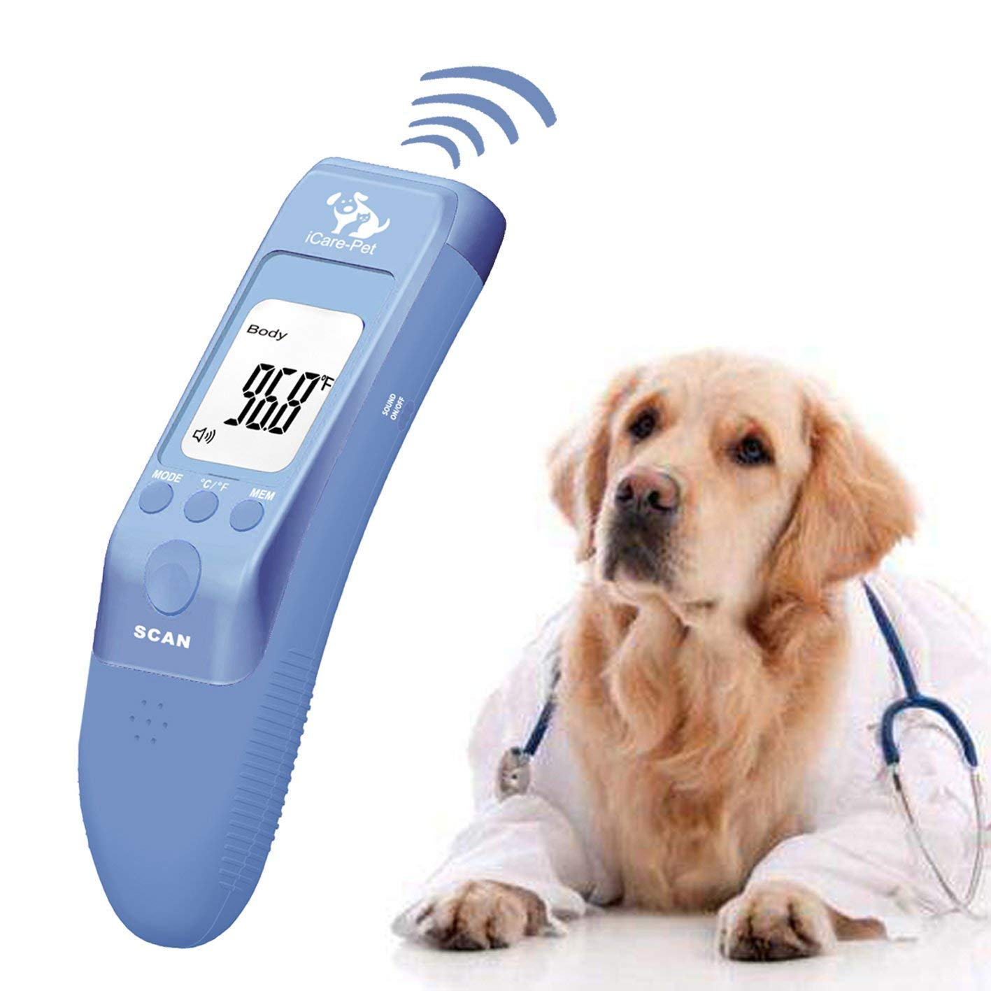 Pet Clinic Thermometer for Dog, Cat, Rabbit and All Pets, Measure in 1s, C/F Switchable by iCare-Pet
