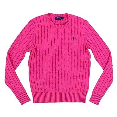 0903e4012d6 Ralph Lauren Polo Damen Zopf Pullover Pulli Strickpullover Rundhals pink  Größe S