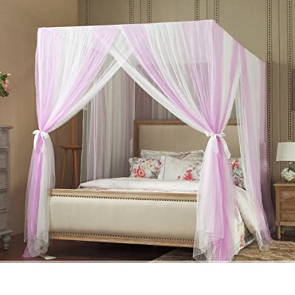 Square netting curtains Bed canopy Princess bed canopy Four corners enhanced tactical mosquito net Floor & Amazon.com: Square netting curtains Bed canopy Princess bed canopy ...
