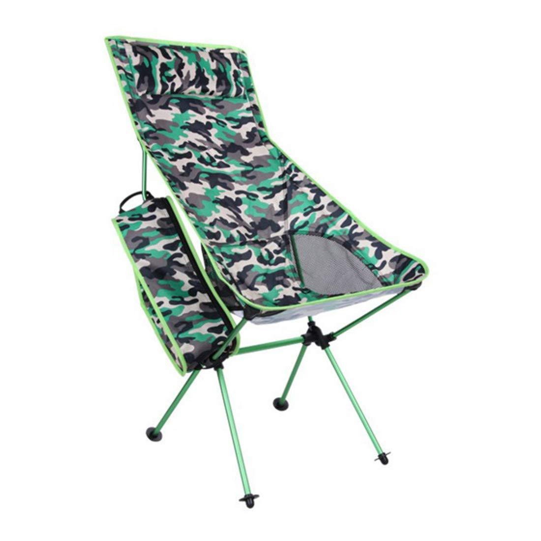 FUBULECY Outdoor Aluminiumlegierung Camo Folding Beach Chair Berg Camping Freizeit Stuhl Lange Klappstuhl